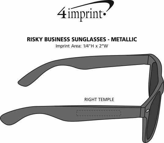 Imprint Area of Risky Business Sunglasses - Metallic