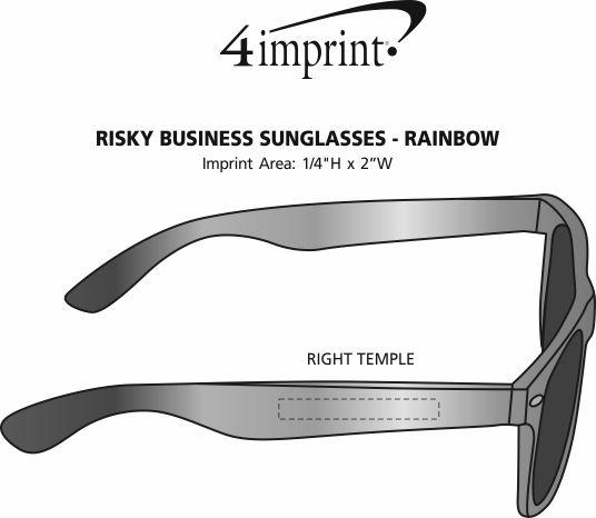 Imprint Area of Risky Business Sunglasses - Rainbow
