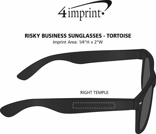 Imprint Area of Risky Business Sunglasses - Tortoise