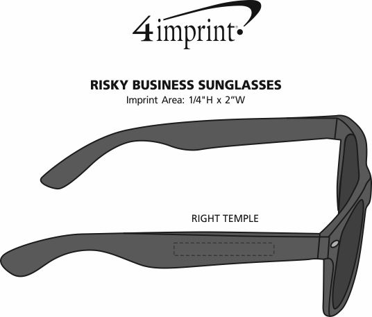 Imprint Area of Risky Business Sunglasses - Opaque