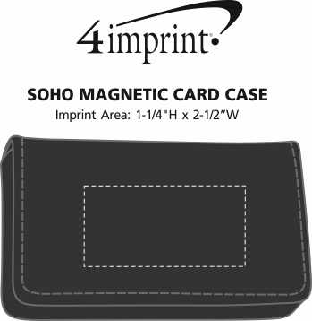 Imprint Area of Soho Magnetic Card Case
