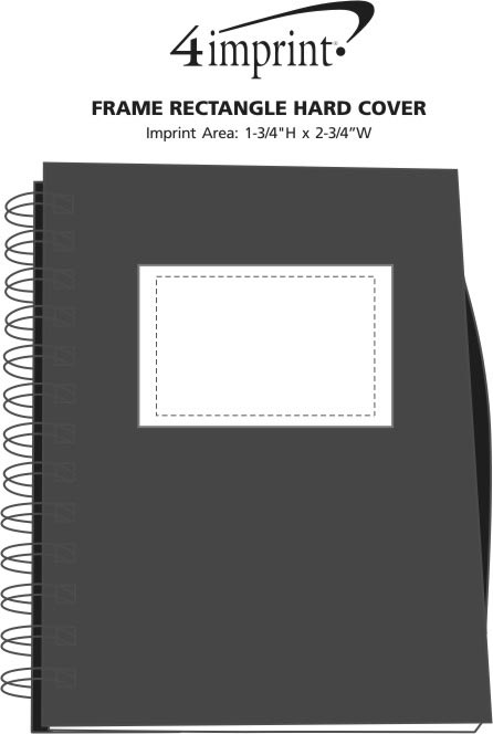 Imprint Area of Frame Rectangle Hard Cover Notebook