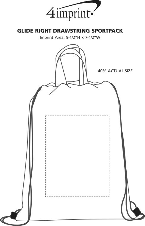 Imprint Area of Glide Right Drawstring Sportpack