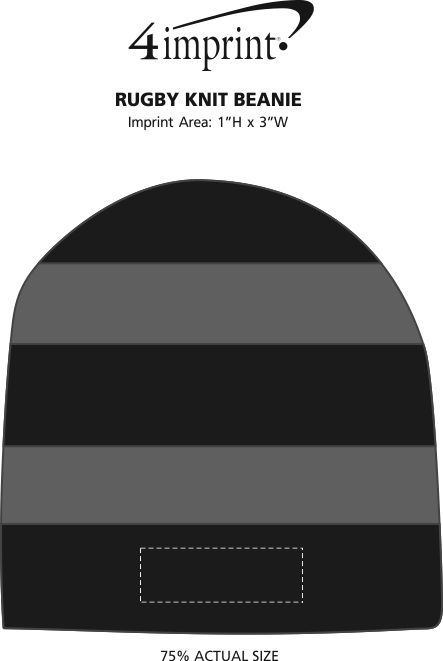 Imprint Area of Rugby Knit Beanie