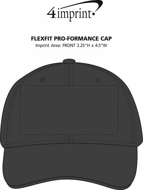 Imprint Area of Flexfit Pro-Formance Cap