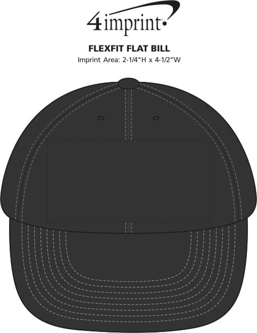 Imprint Area of Flexfit Flat Bill