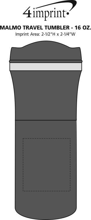 Imprint Area of Malmo Travel Mug Set - 16 oz.
