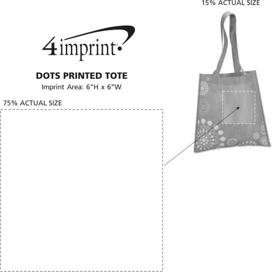 Imprint Area of Dots Printed Tote