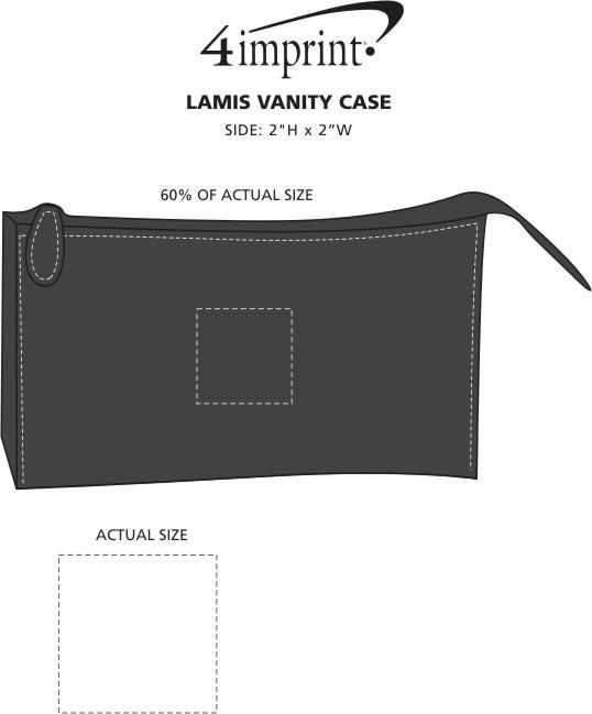 Imprint Area of Lamis Vanity Case