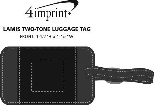 Imprint Area of Lamis Two-Tone Luggage Tag