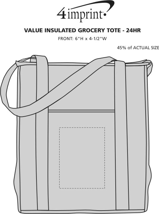Imprint Area of Value Insulated Grocery Tote - 24 hr