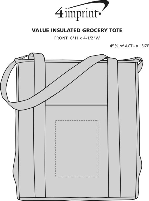 Imprint Area of Value Insulated Grocery Tote
