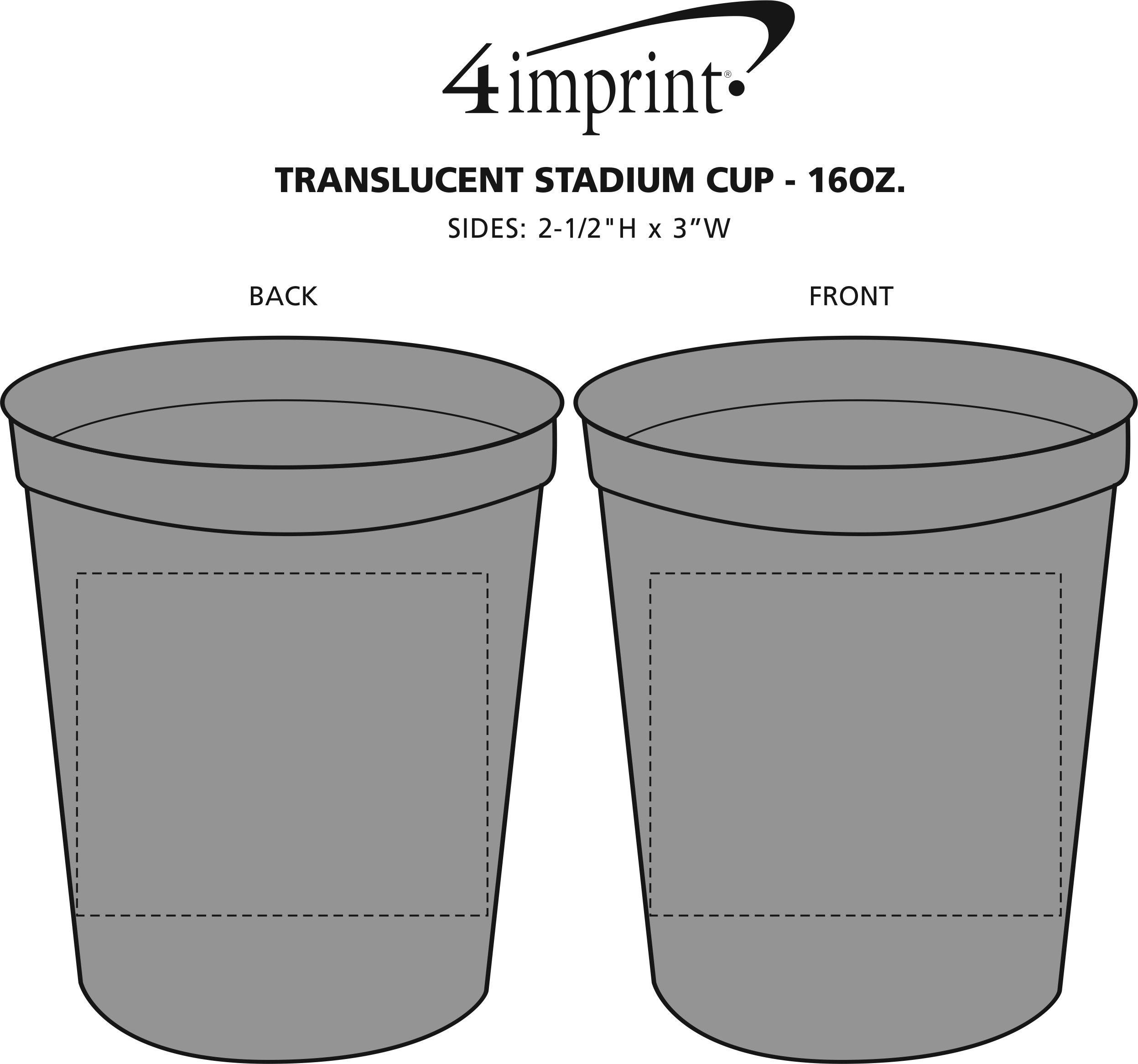 Imprint Area of Translucent Stadium Cup - 16 oz.