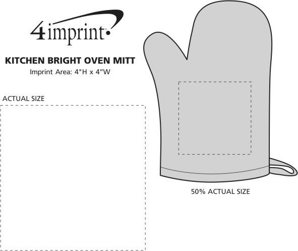 Imprint Area of Kitchen Bright Oven Mitt