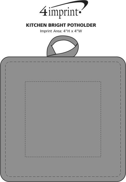 Imprint Area of Kitchen Bright Potholder