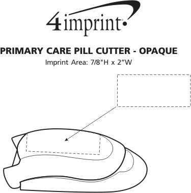 Imprint Area of Primary Care Pill Cutter - Opaque
