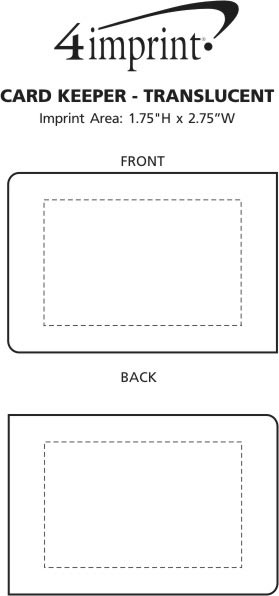 Imprint Area of Card Keeper - Translucent