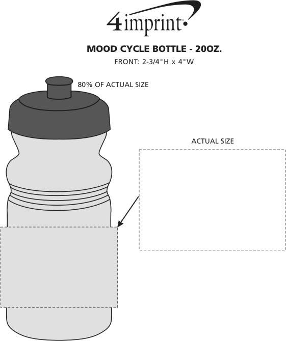 Imprint Area of Mood Cycle Bottle - 20 oz.