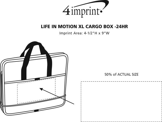 Imprint Area of Life in Motion XL Cargo Box - 24 hr