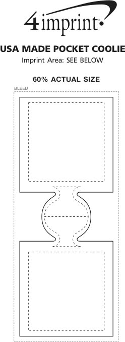 Imprint Area of USA Pocket Coolie