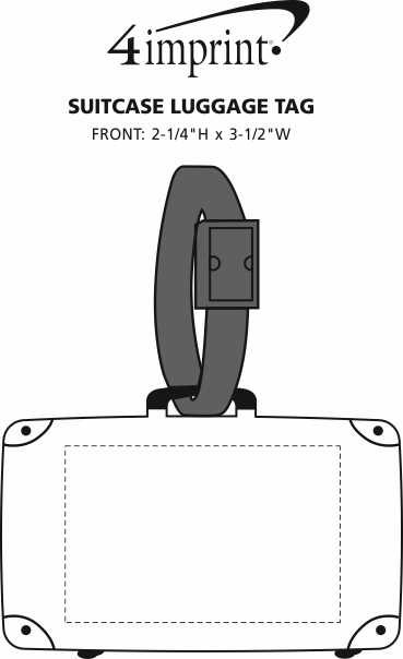 Imprint Area of Suitcase Luggage Tag
