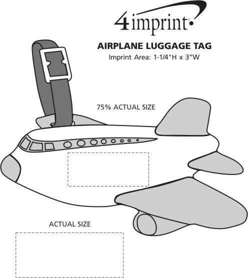 Imprint Area of Airplane Luggage Tag