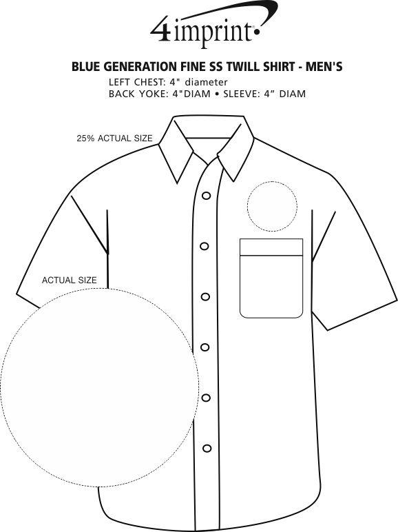 Imprint Area of Blue Generation Fine SS Twill Shirt - Men's