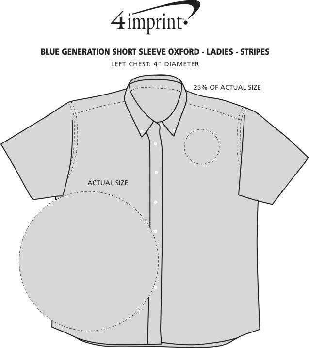 Imprint Area of Blue Generation Short Sleeve Oxford - Ladies' - Stripes