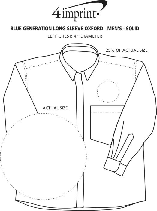 Imprint Area of Blue Generation Long Sleeve Oxford - Men's - Solid