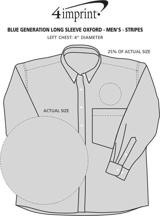 Imprint Area of Blue Generation Long Sleeve Oxford - Men's - Stripes