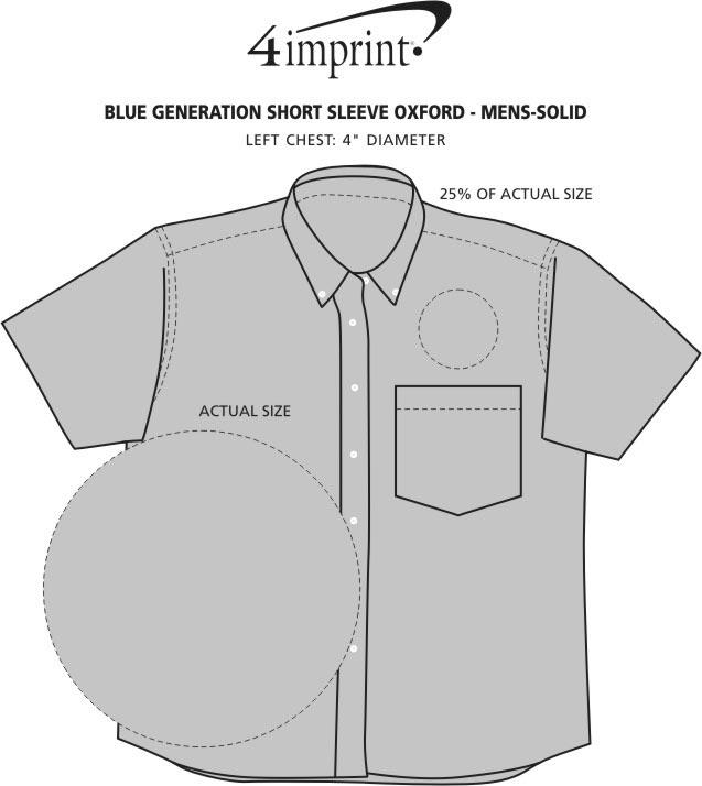 Imprint Area of Blue Generation Short Sleeve Oxford - Men's - Solid