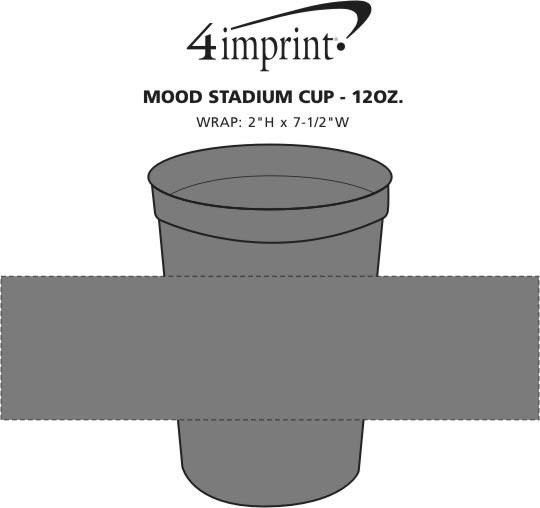 Imprint Area of Mood Stadium Cup - 12 oz.