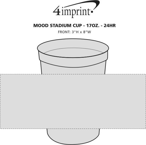 Imprint Area of Mood Stadium Cup - 17 oz. - 24 hr