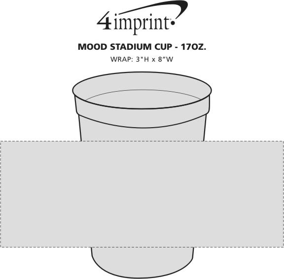 Imprint Area of Mood Stadium Cup - 17 oz.