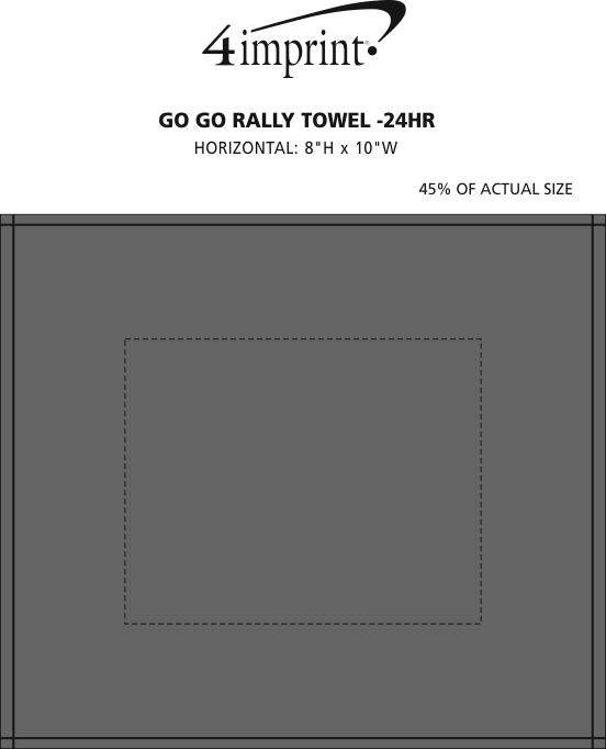 Imprint Area of Go Go Rally Towel - 24 hr