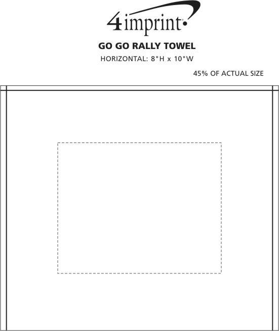 Imprint Area of Go Go Rally Towel