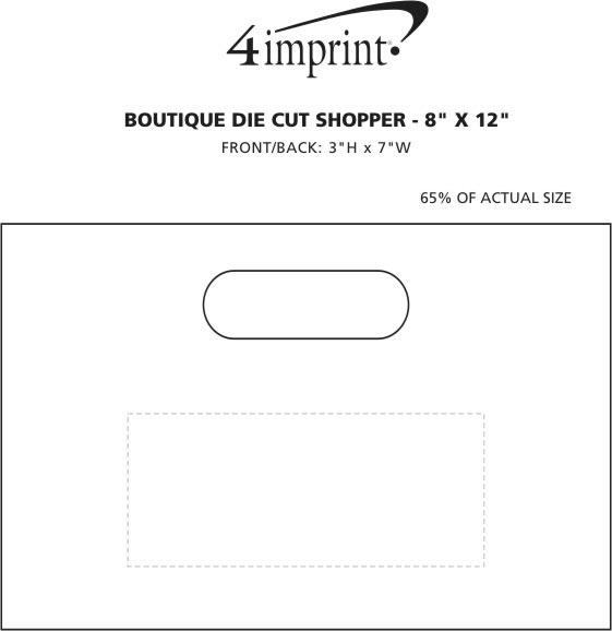 """Imprint Area of Boutique Die Cut Shopper - 8"""" x 12"""""""