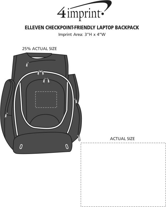 Imprint Area of elleven Checkpoint-Friendly Laptop Backpack