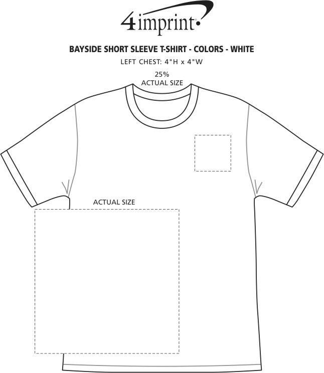 Imprint Area of Bayside USA Made T-Shirt - White - Screen