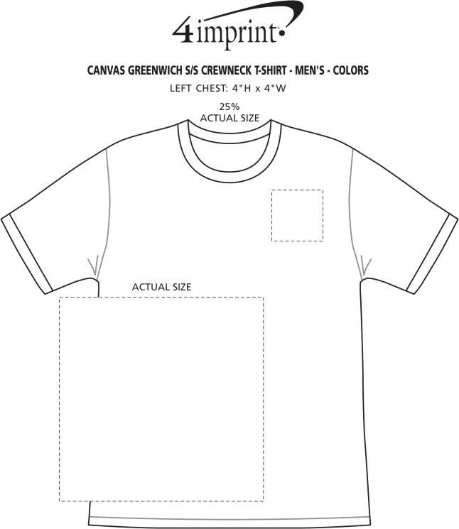 Imprint Area of Bella+Canvas Crewneck T-Shirt - Men's - Colors - Screen