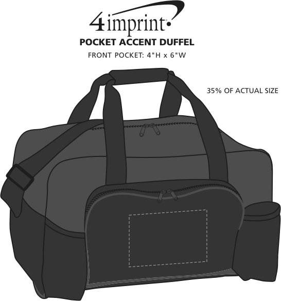 Imprint Area of Pocket Accent Duffel