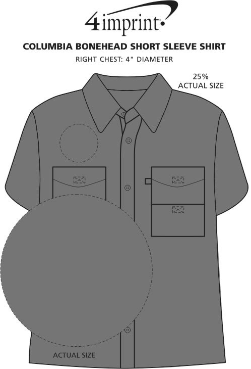 Imprint Area of Columbia Bonehead Short Sleeve Shirt