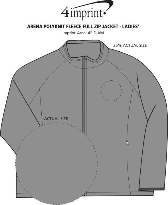 Imprint Area of Arena Polyknit Fleece Full-Zip Jacket - Ladies'