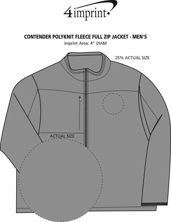 Imprint Area of Contender Polyknit Fleece Full-Zip Jacket - Men's