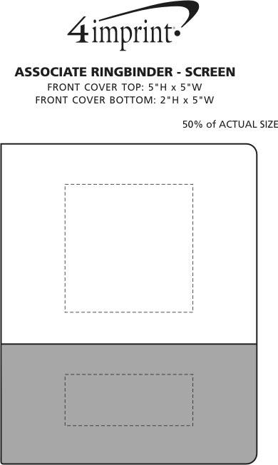 Imprint Area of Associate Ringbinder - Screen