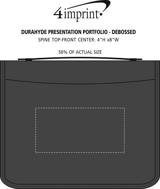 Imprint Area of DuraHyde Presentation Portfolio - Debossed