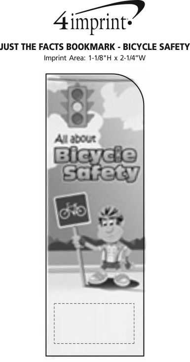 Imprint Area of Just the Facts Bookmark - Bicycle Safety