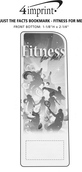 Imprint Area of Just the Facts Bookmark - Fitness For Me