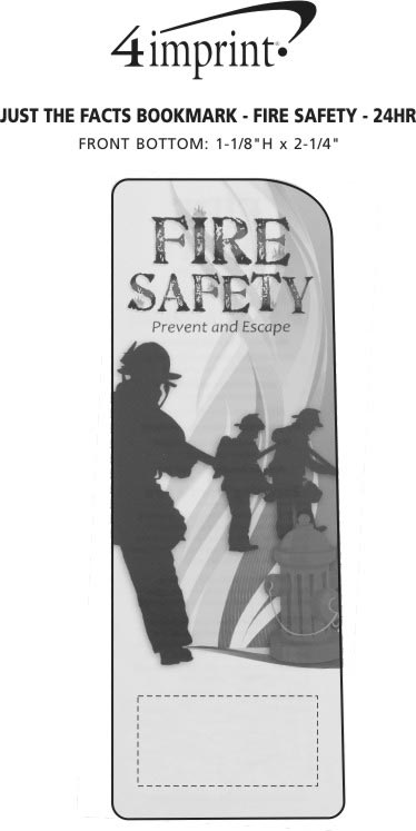 Imprint Area of Just the Facts Bookmark - Fire Safety - 24 hr