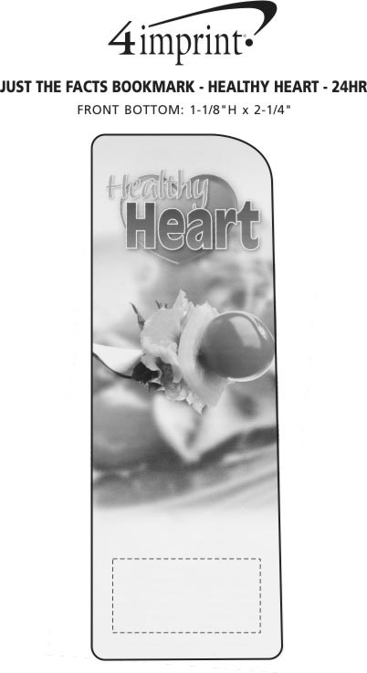 Imprint Area of Just the Facts Bookmark - Healthy Heart - 24 hr